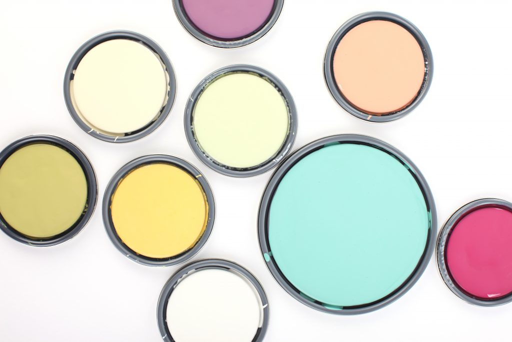 how to design a happier home, paint, color, pink, teal, happy