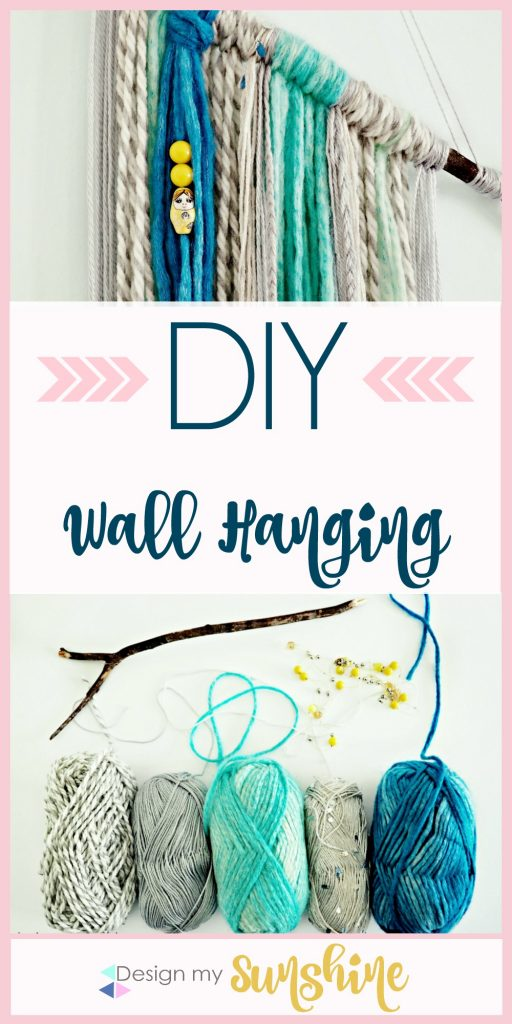 DIY Wall art, DIY wall hanging, yarn wall hanging, bohemian,