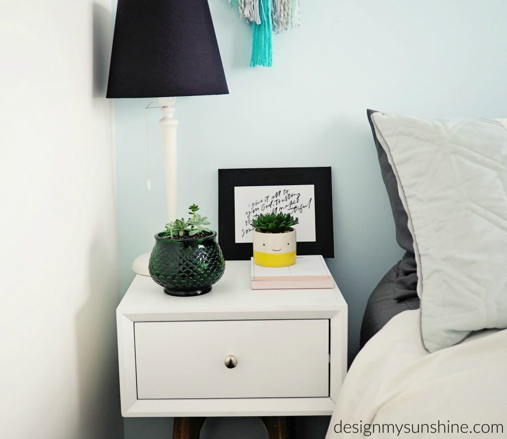 Side table, Bedroom, Farmhouse, Modern, Succulent,